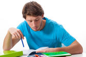 Student working on task — Stock Photo