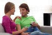 People drinking red wine — Foto Stock