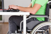Wheelchair worker — Foto Stock