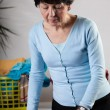 Woman doing household chores — Stock Photo