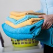 Towels and clothes to iron — Stock Photo #45682049