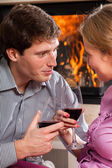 Relax with glass of wine — Stock Photo