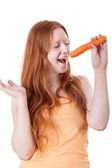 Jong meisje zingen — Stockfoto