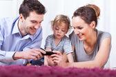 Tempo de familia feliz — Fotografia Stock