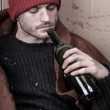 Homeless addicted to alcohol — Stock Photo #46377031