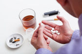 Man with addictions — Stock Photo