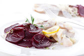 Salad made of beets and herring — Foto Stock