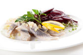 Mix of herring beets and sprouts — Foto Stock