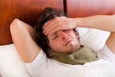 Man having a flu — Stock Photo