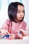 Asian girl having fun — Stock Photo