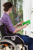 Disabled during free time — Stock Photo