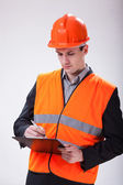 Building site manager — Stock Photo