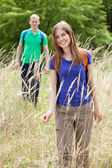 Couple spending a summer day outdoors  — Stock Photo