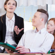 Teacher talking with students — Stock Photo #47169927