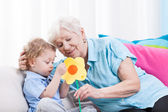 Grandma's love — Stock Photo