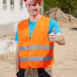 Builder showing okay gesture — Stock Photo #47496327