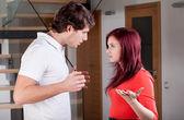 Couple during quarrel — Stock Photo