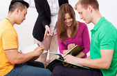 Group task at the lesson — Stock Photo