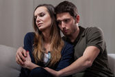 Couple problems during psychotherapy — Stock Photo