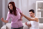 Violence in young marriage — Stock Photo