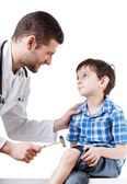 Ill boy at the doctor's — Stock Photo