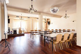 Interior of a boardroom — Foto Stock