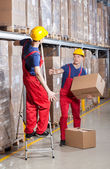 Storekeeper having accident — Stock Photo
