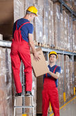 Storekeepers during work — Stock Photo