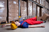Storekeeper after accident — Stock Photo