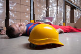 Accident in a warehouse — Stock Photo