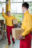 Storekeepers doing their job — Stock Photo