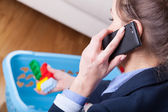 Woman talking on phone — Stock Photo