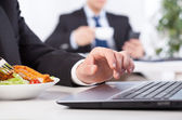 Time to eat in the office — Stock Photo