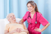 Lady and her doctor — Stock Photo