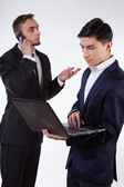Businessmen during work — Stock Photo