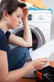 洗衣机的问题 — 图库照片
