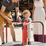 Boy on merry-go-round — Stock Photo #48581839