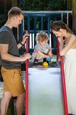 Litlle boy on slide — Stock Photo