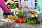 Women preparing food — Stock Photo