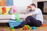 Lonly tired father — Stock Photo