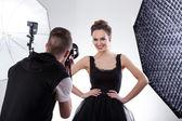 Fotograf und model — Stockfoto