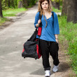 Girl going for training — Stock Photo #48703147