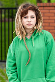 Rude rasta girl — Stock Photo