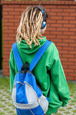 Girl with dreads — Stock Photo