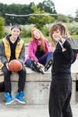 Teens relaxing — Foto Stock