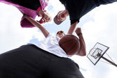 People training basketball — Stock Photo