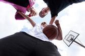 People training basketball — Zdjęcie stockowe