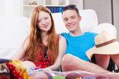 Par på semester — Stockfoto