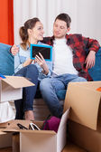 Marriage moving house — Stock Photo
