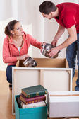 Marriage packing pots — Stock Photo
